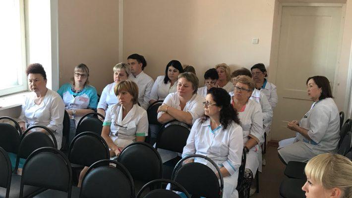 28.08.2018 г в поликлинике врач инфекционист Е.В.Букреева провела семинар для врачей на тему «Профилактика гриппа».